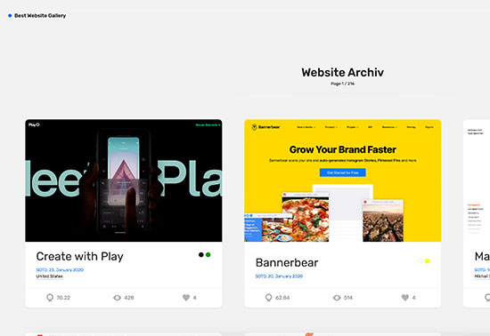 Best Website Gallery – Web Design Inspiration Rezourze.com