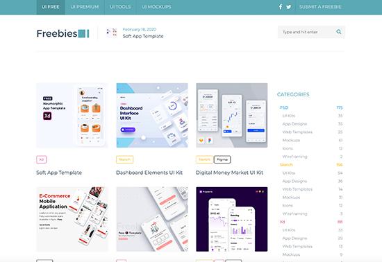 FreebiesUI-Free-hand-picked-UI-resources-for-designers rezourze.com
