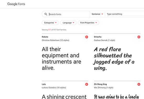 Google-fonts-Design-Resources Rezourze.com