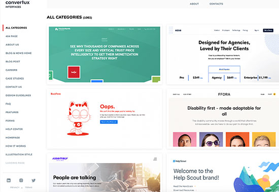 Interfaces | Brand-focused collection of UI design Rezourze.com