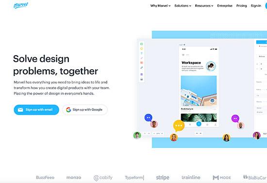 Marvel App-Prototyping Tools Rezourze.com