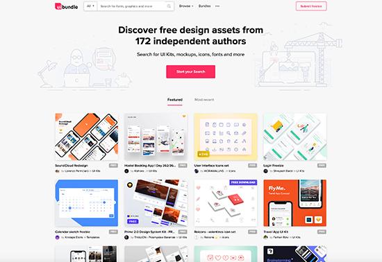 UIBundle Free UI Kits Fonts Icons and more Rezourze.com
