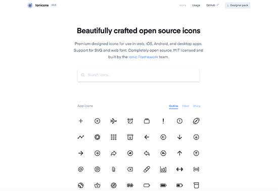 ionicons-Icons-&-Illustrations Rezourze.com