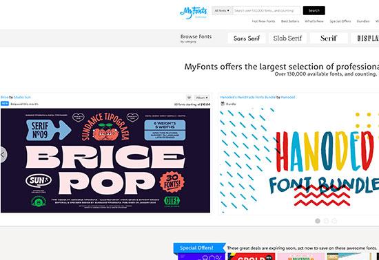 myfonts-design-resources Rezourze.com