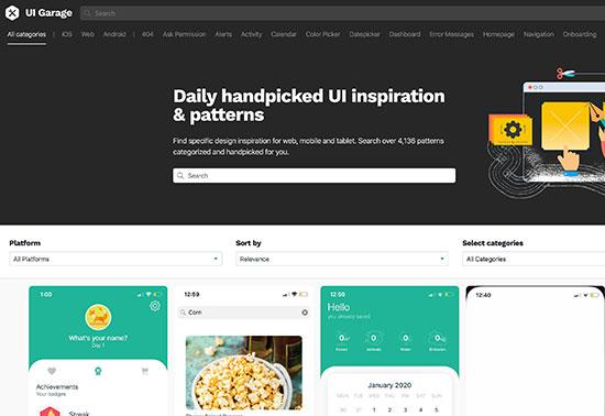 uigarage-ui-ux-inspiration-design-resources Rezourze.com
