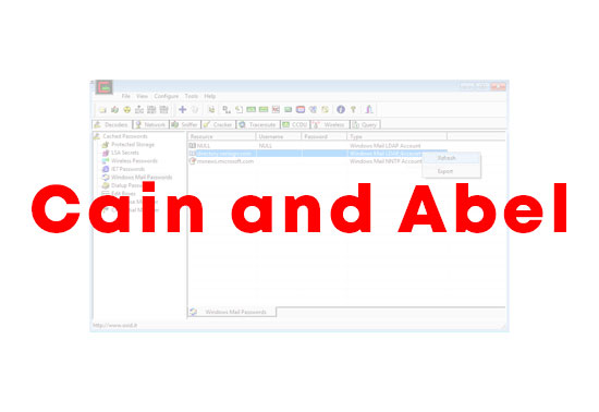 Cain and Abel Password Recovery