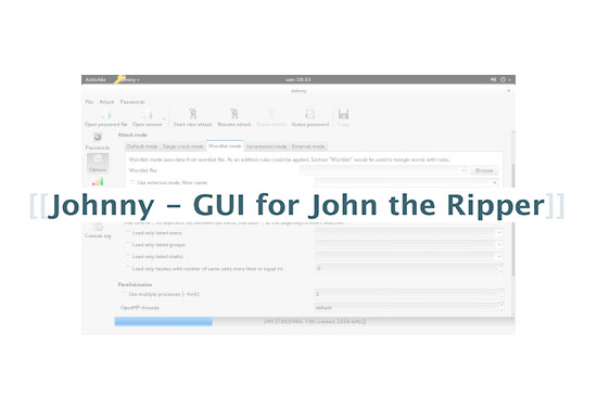 Johnny - GUI for John the Ripper