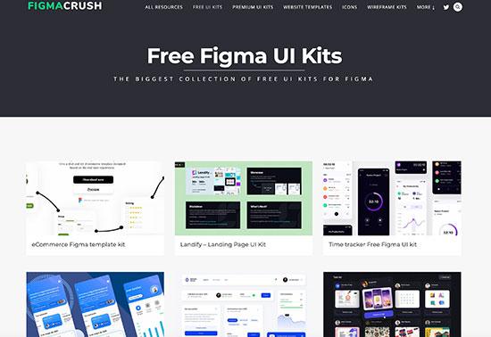 Figma UI kits, Free UI kits for Figma, FigmaCrush.com