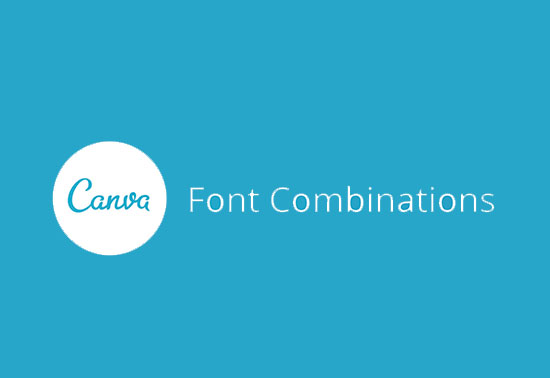 Find the perfect font combination, Canva