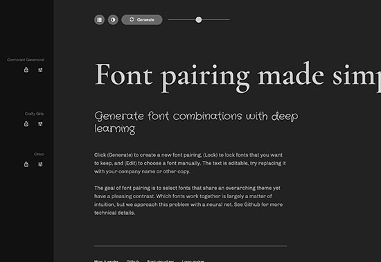 Fontjoy, Generate font pairings in one click, AI Fonts