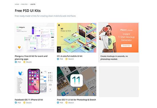 Free PSD UI Kits, Freebiesbug
