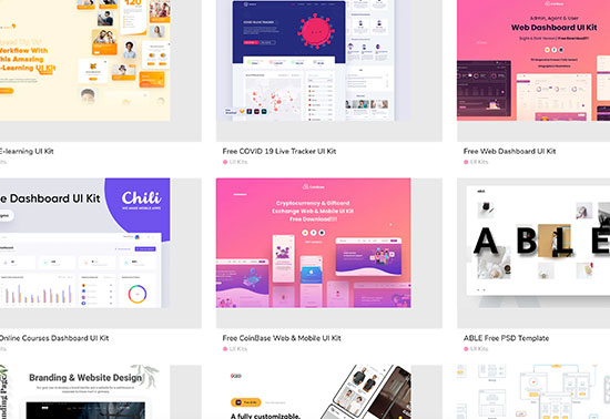 Free UI Kits, Free Design Resources