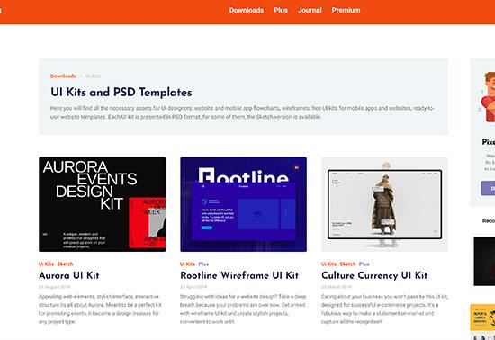 Free UI Kits, PSD Templates, Pixelbuddha