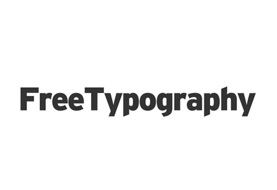 FreeTypography, The best free fonts, typefaces and typography