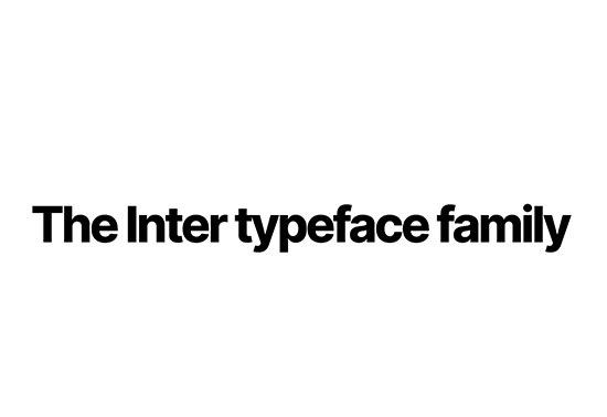 Inter font family - Rsms.me