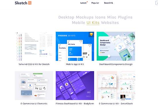 Sketch UI Kit List, Free UI Kits, Sketch Repo