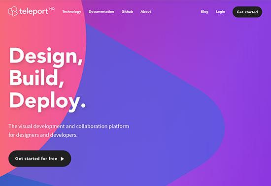 teleporthq.io, AI-Wired Front-End Development Platform