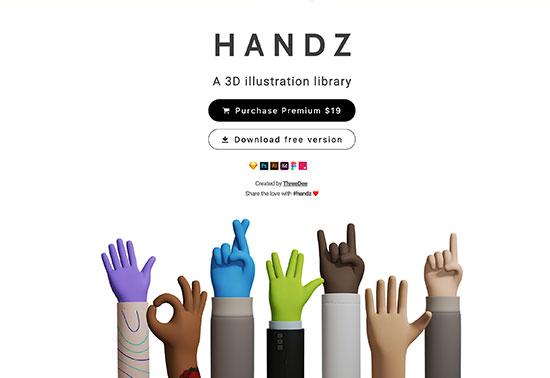 3D Hands gestures