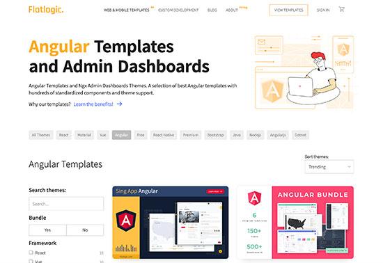 Admin Angular Templates - Flatlogic