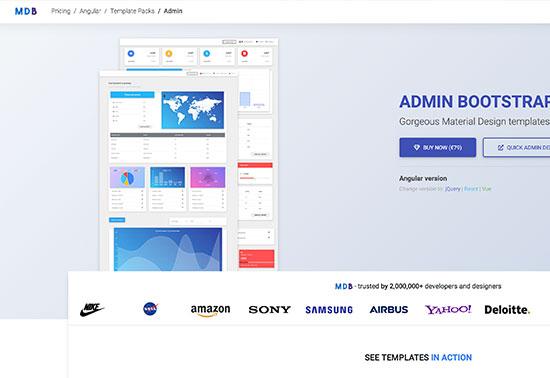 Angular Admin - MDB