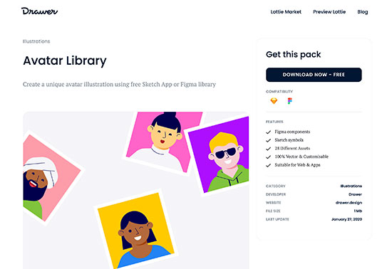 Avatar Library, Drawer Design