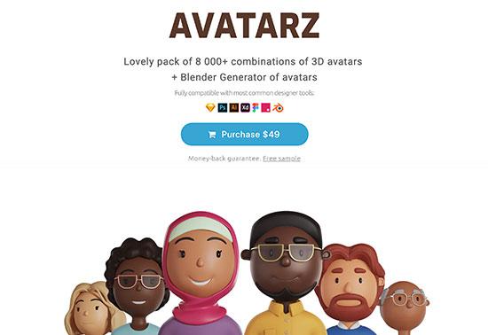 Avatarz - Library of 3D avatars