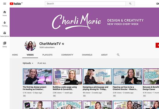CharliMarieTV Youtube Channel