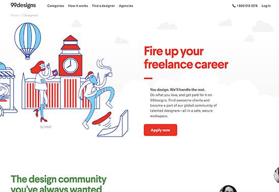 Designers jobs, 99designs jobs