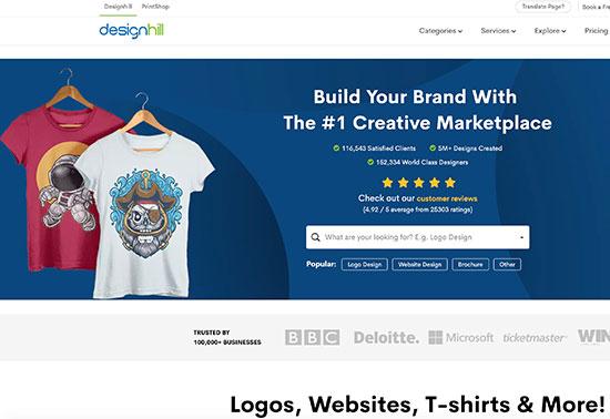 Designhill, Design Services & DIY Tools, Print on Demand