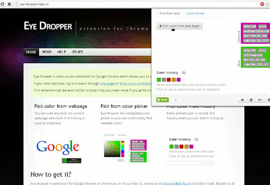 Eye Dropper Chrome Extensions