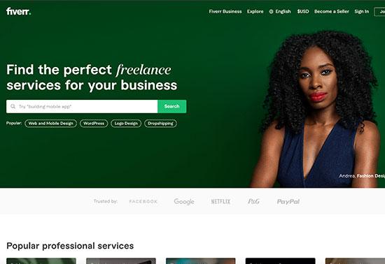 Fiverr, Freelance Services Marketplace for Businesses