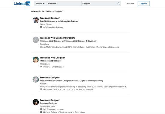 Freelance Designer - LinkedIn