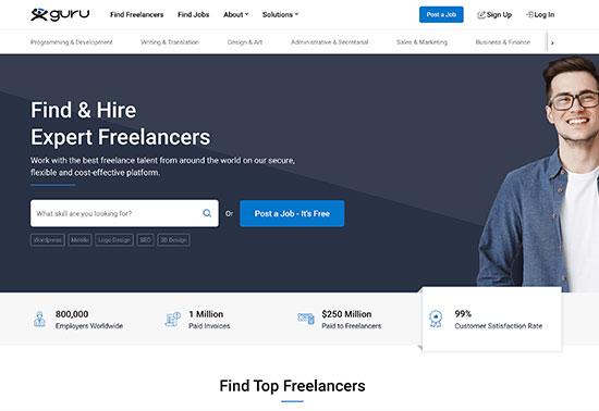 Guru, Hire Freelancers Online, Find Freelance Jobs Online