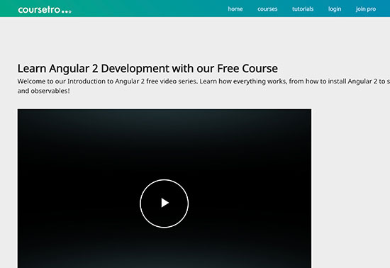 Learn Angular 2 Free Course - Coursetro