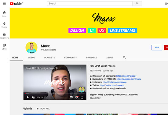 Maex Youtube Channel