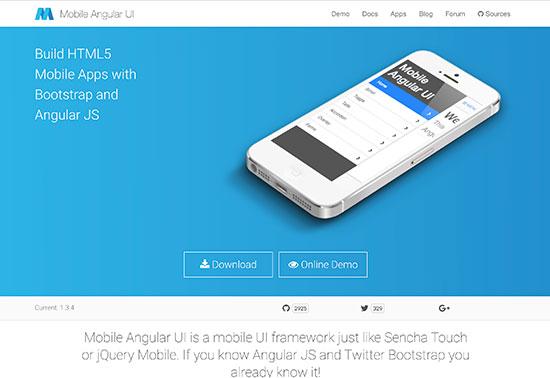 Mobile Angular UI - Angular JS Mobile UI framework