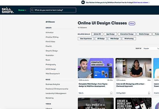 Online UI Design Classes, Start Learning for Free, Skillshare