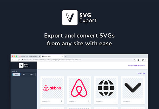 SVG Export, Chrome Extensions SVG Export