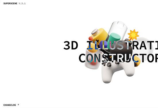 Superscene 3, 3D Shapes Illustration