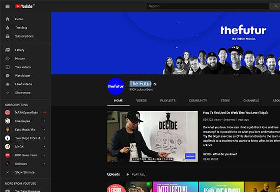 The Futur, Youtube For UI