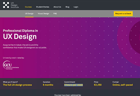UX Design Institute, UX Certification, UX Diploma