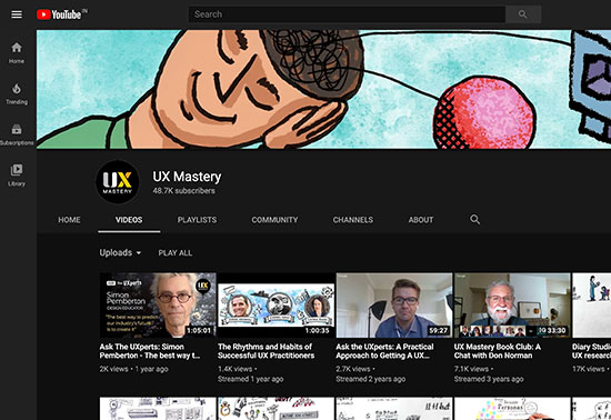 UX Mastery Youtube Channel