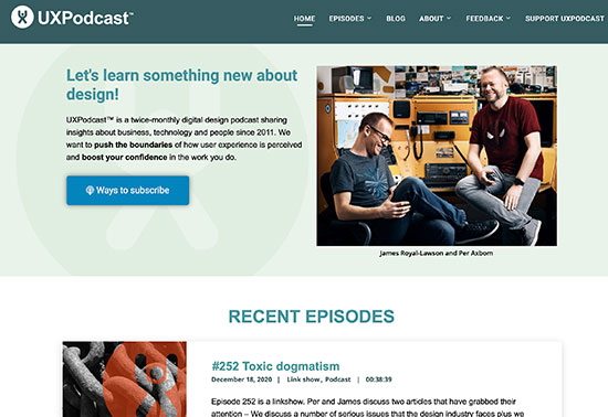 UX Podcast, A twice-monthly user experience and digital