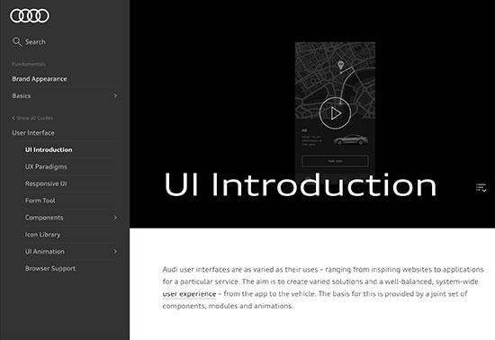 User Interface - Audi