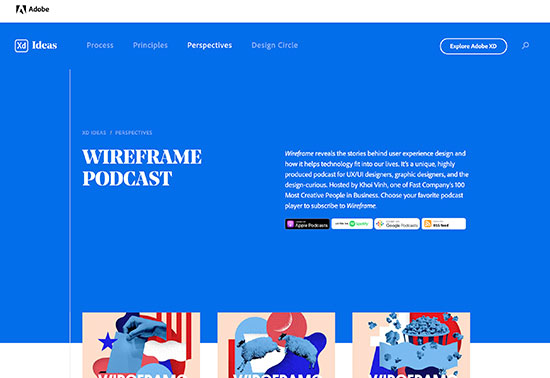 Wireframe Podcast with Khoi Vinh, Adobe XD Ideas