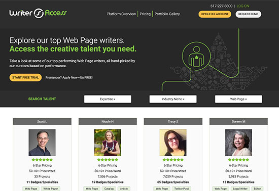 WriterAccess, Hire Freelance Writers, Content Strategists