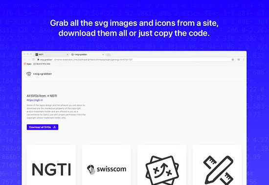 svg-grabber, get all the svg's from a site