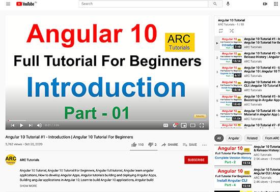ARC Tutorials - Angular 9 Tutorial For Beginners
