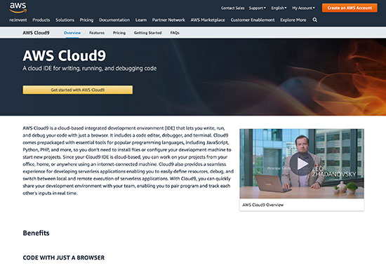 AWS Cloud9 - Angular