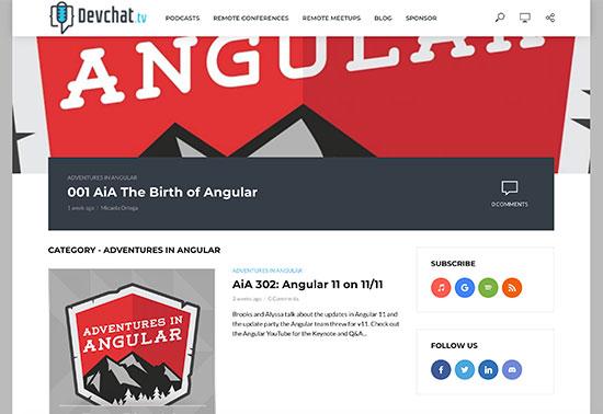 Adventures in Angular Podcasts - Devchat.tv